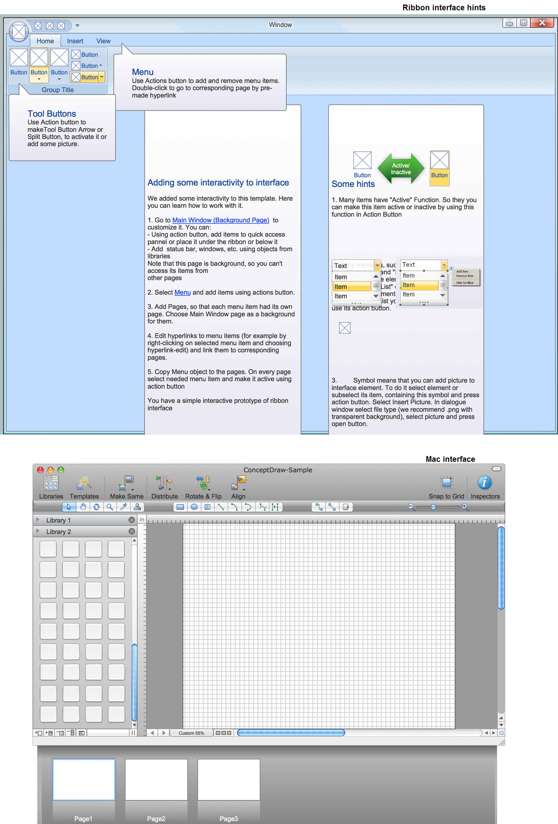 GUI Prototyping with ConceptDraw DIAGRAM  *