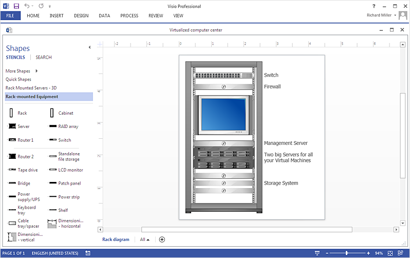 How To Make  Rack Diagram in MS Visio