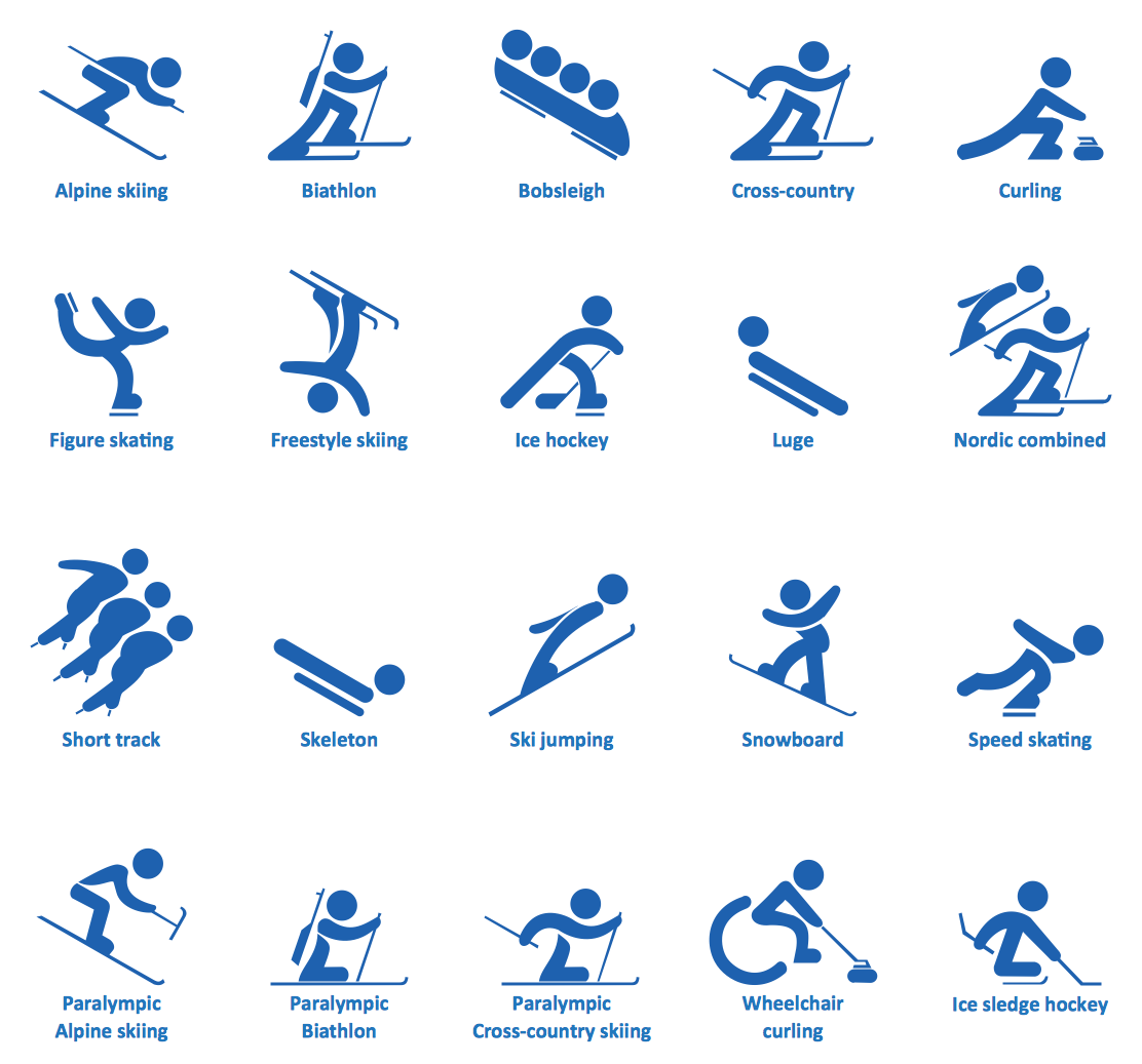 Winter Sports.<br>Using Winter Sports Design Elements Producing Infographics *
