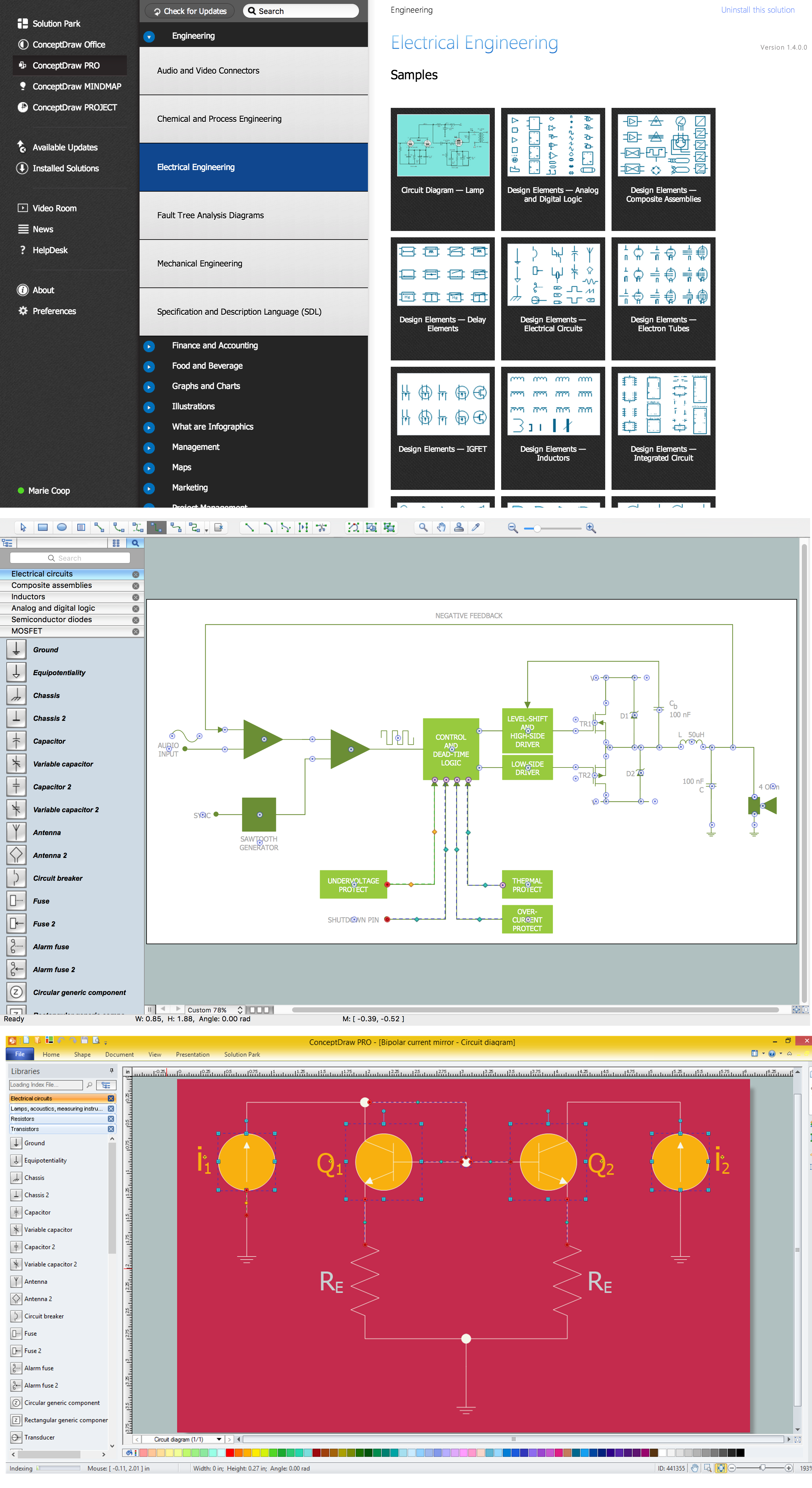 Wiring Diagram with ConceptDraw PRO