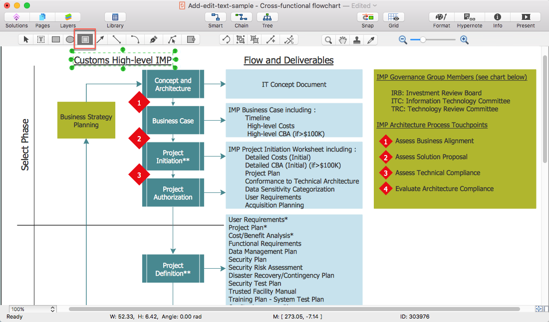 How to Edit Text in ConceptDraw PRO on Mac