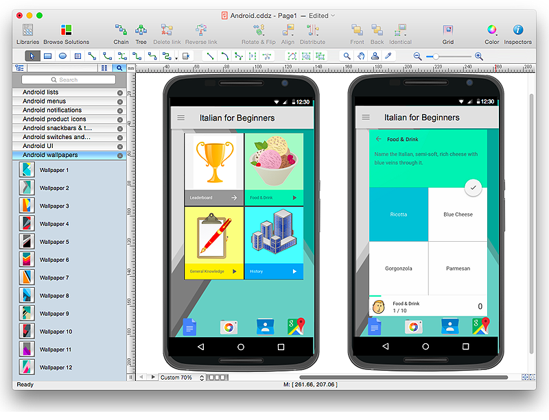 how to design an interface mock up of an android application - Mockups For Android
