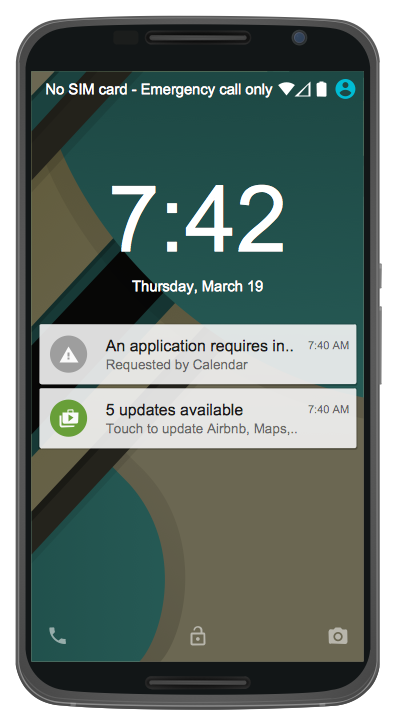 Android GUI - Android 5.0 Lock Screen Notifications