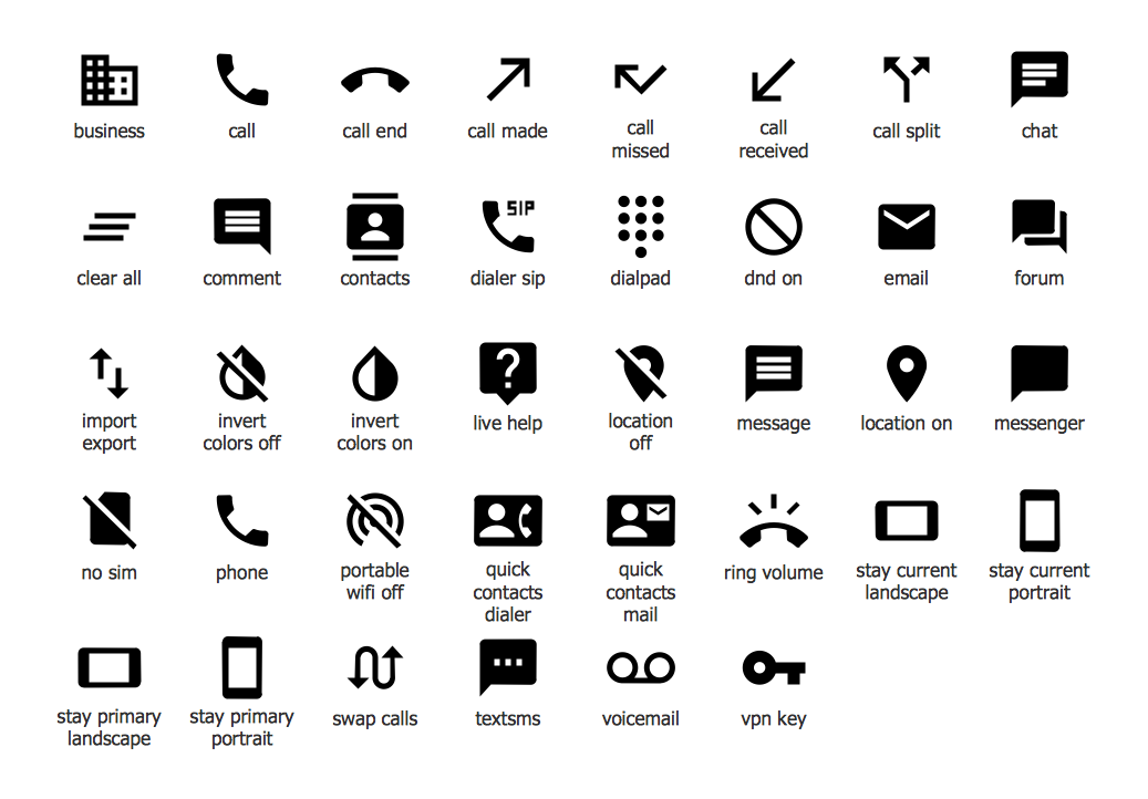 Android System Icons (communication)