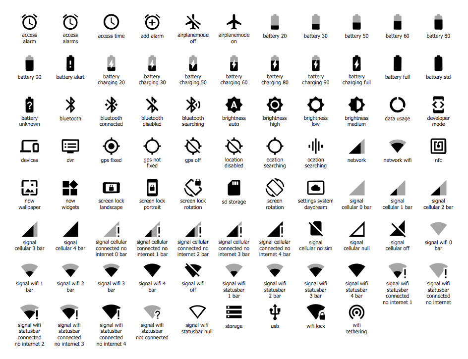 ios system icons