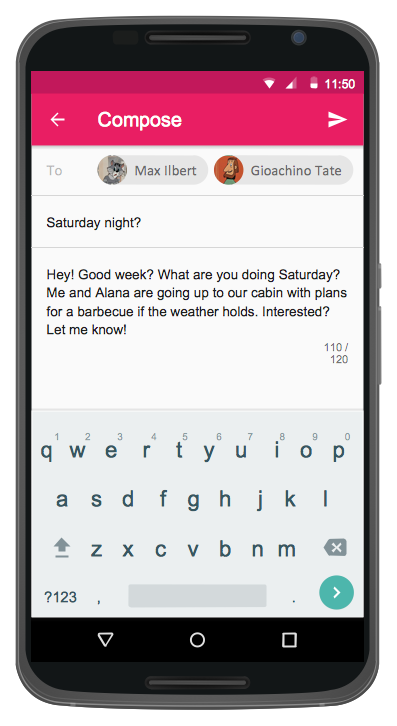 User Interface Android 5.0 — Gmail