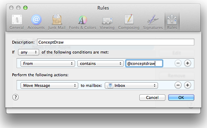 add ConceptDraw to safe senders list on Apple Mail