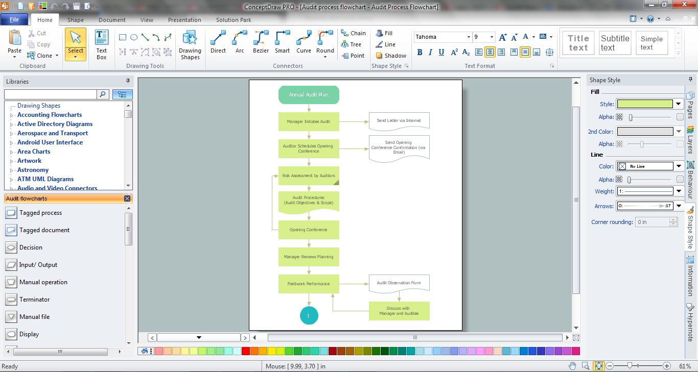 Auditing Process in ConceptDraw DIAGRAM title=