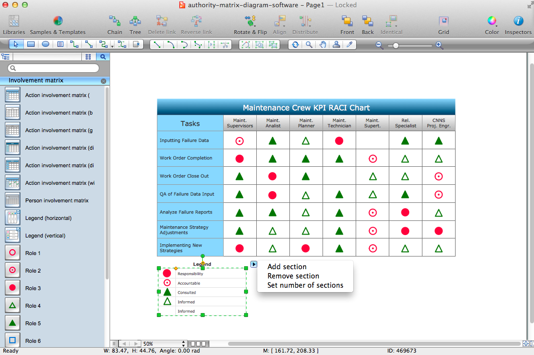 Authority Matrix Diagram Software