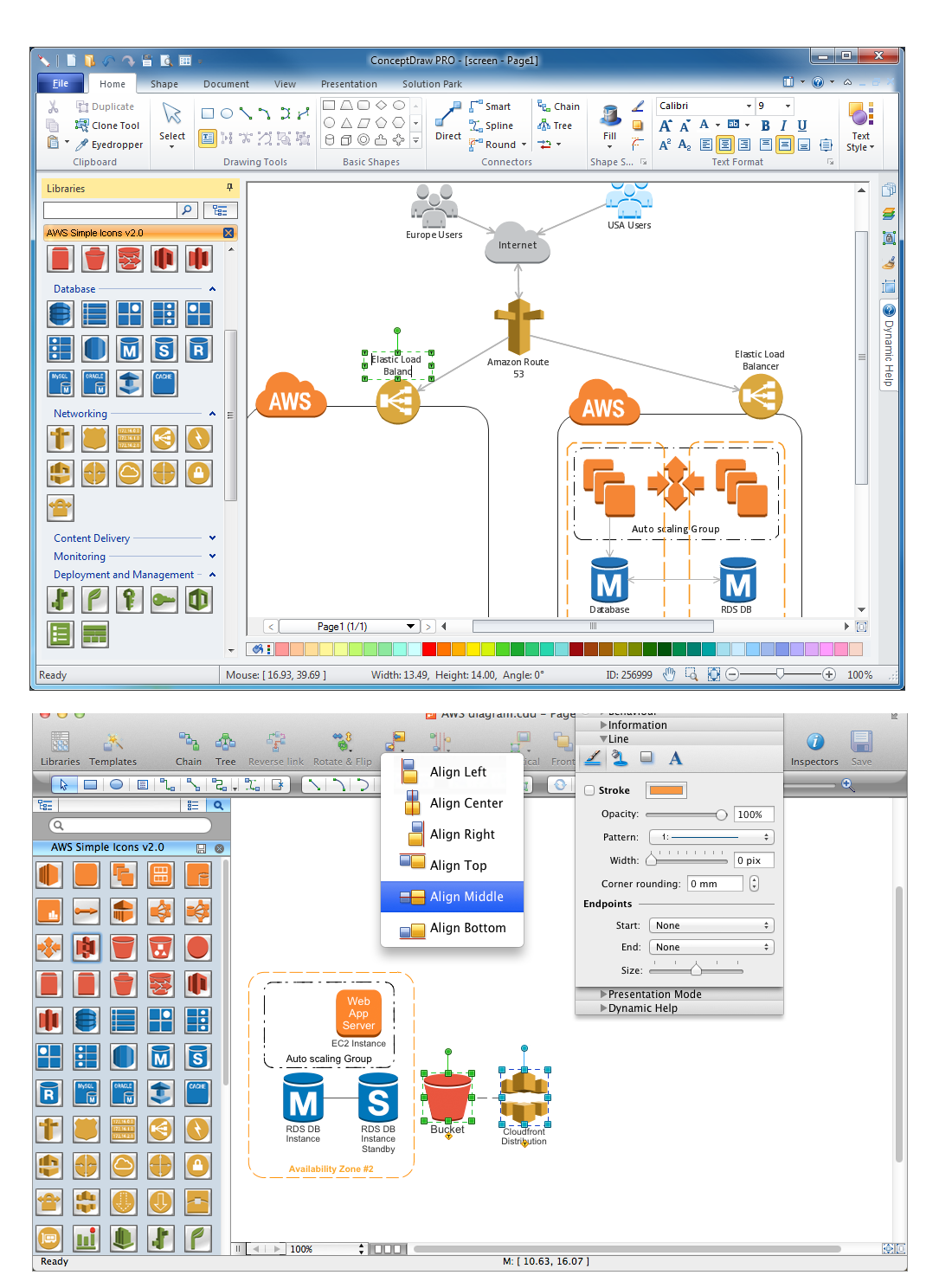 Aws icons design elements for aws architecture diagrams aws architecture diagrams solution mac os x windows ccuart Choice Image