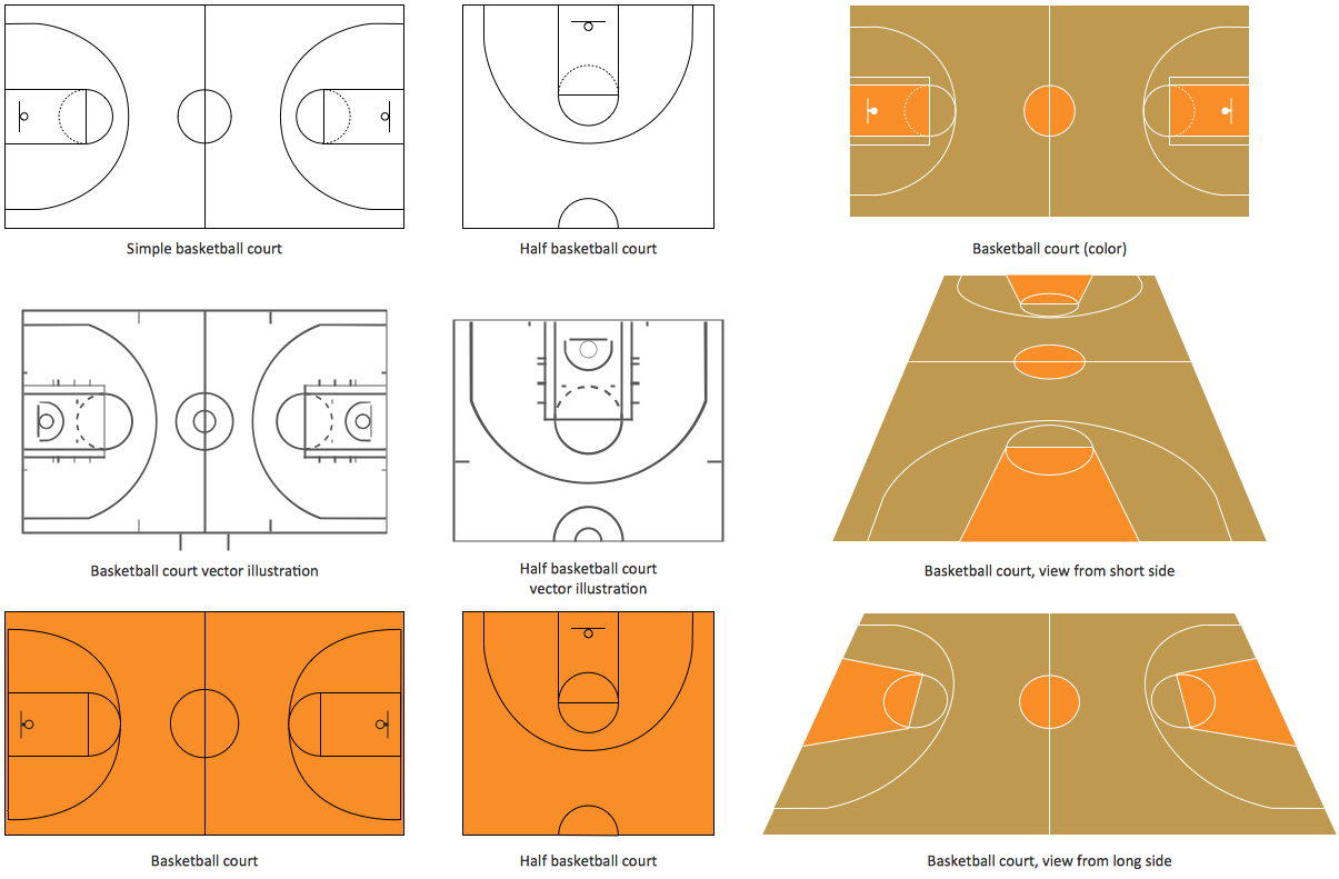 Basketball illustrations for How to build your own basketball court