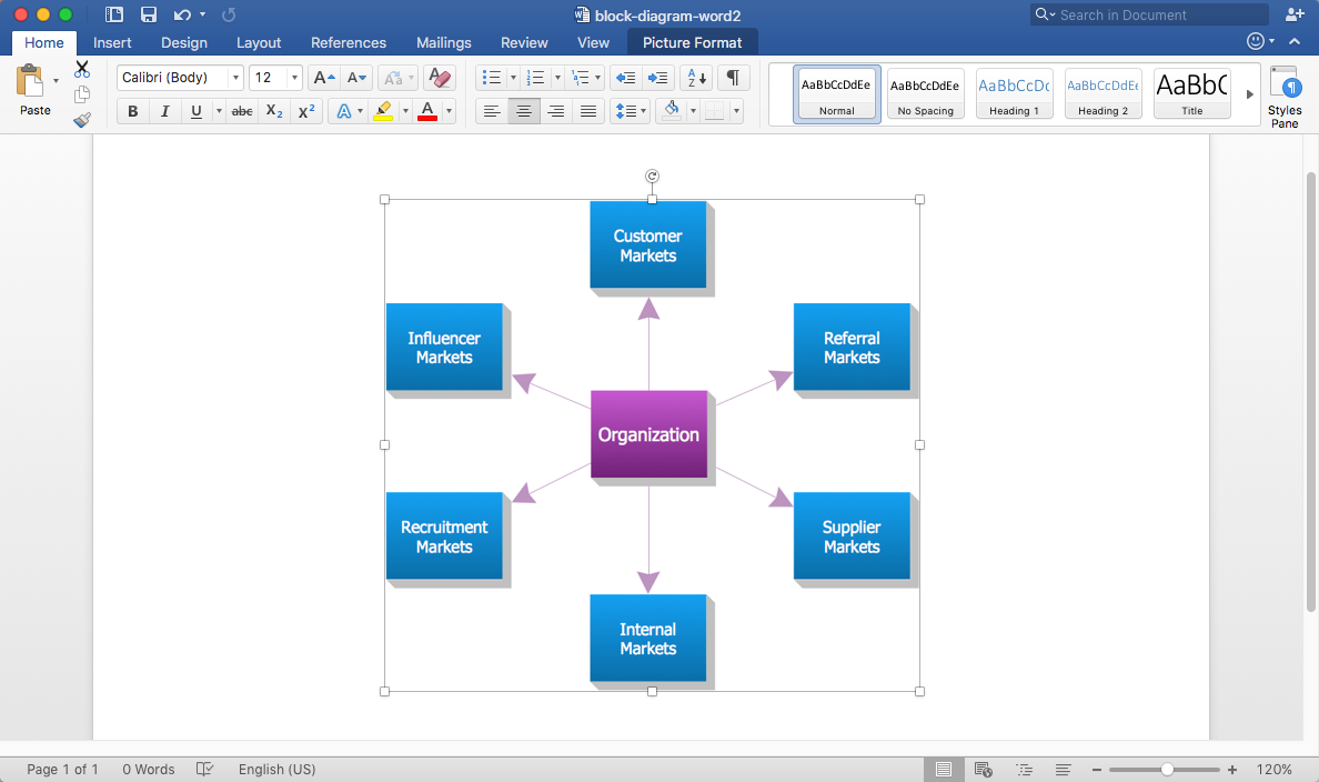 Add a block diagram to a ms word document conceptdraw helpdesk block diagram in ms word ccuart Image collections