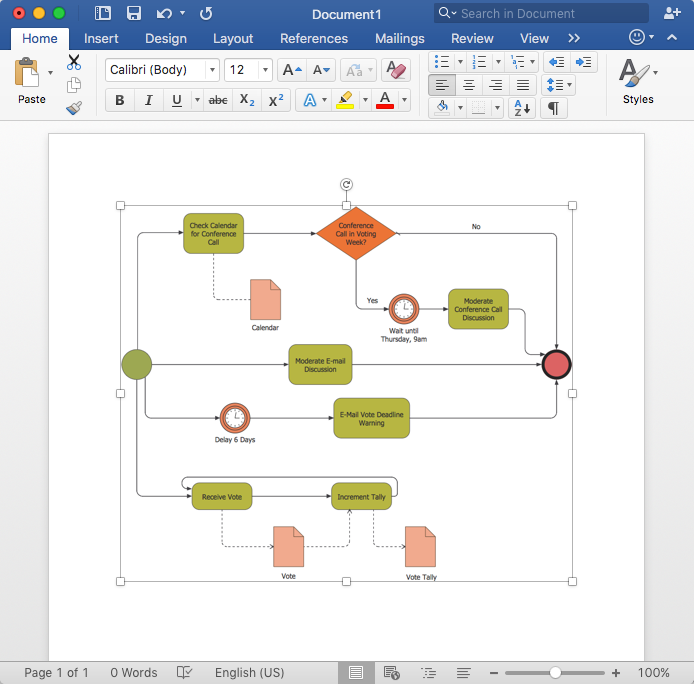 How to Add a Business Process Diagram to MS Word Document *