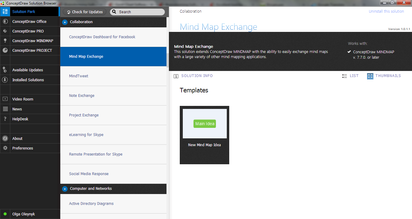 Mind Map Exchange Solution in ConceptDraw STORE