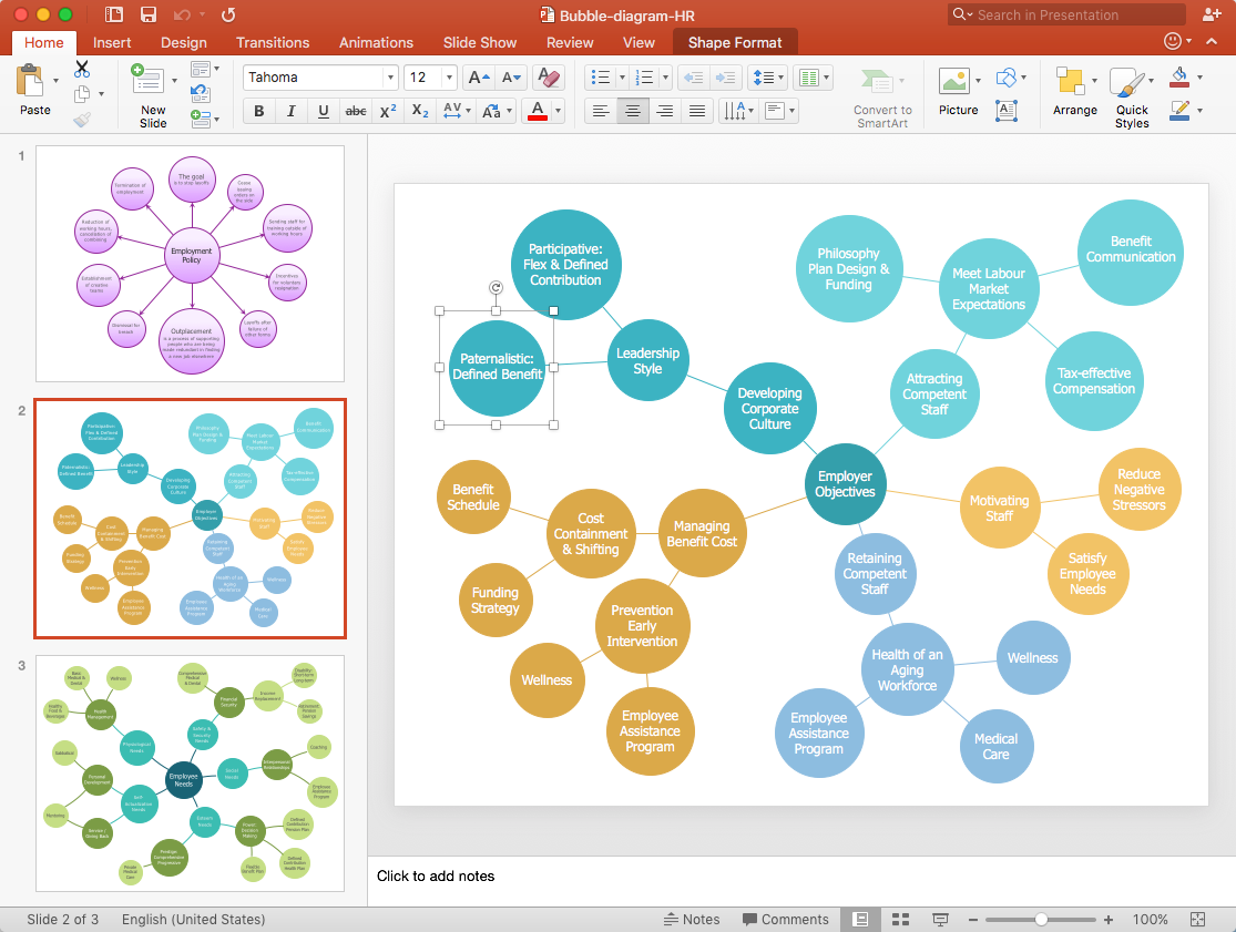 How to Add a Bubble Diagram to PowerPoint Presentation *