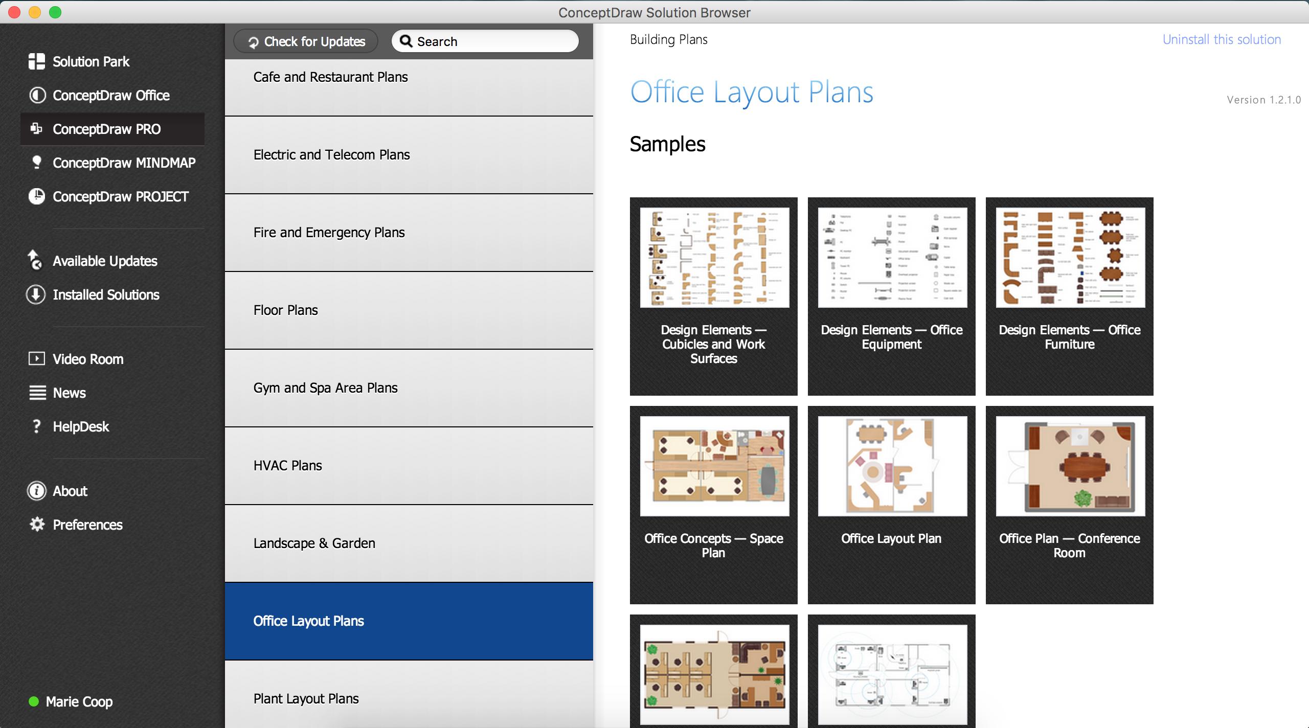 Design Element  Office Layout Plan