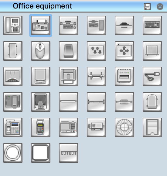 Office Equipment Library For Design Layout Plan