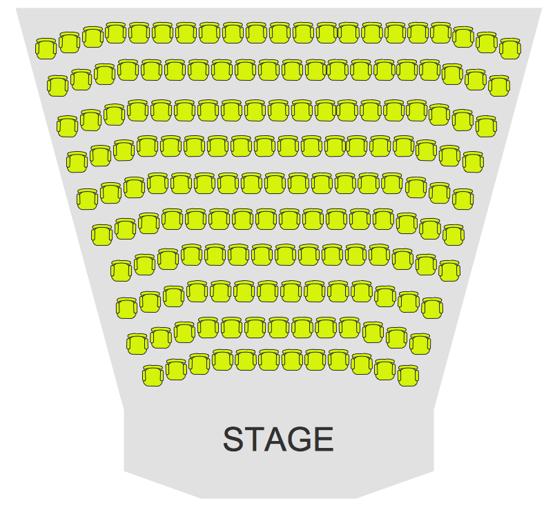 Sample 2. Cinema Theater Seating Plan