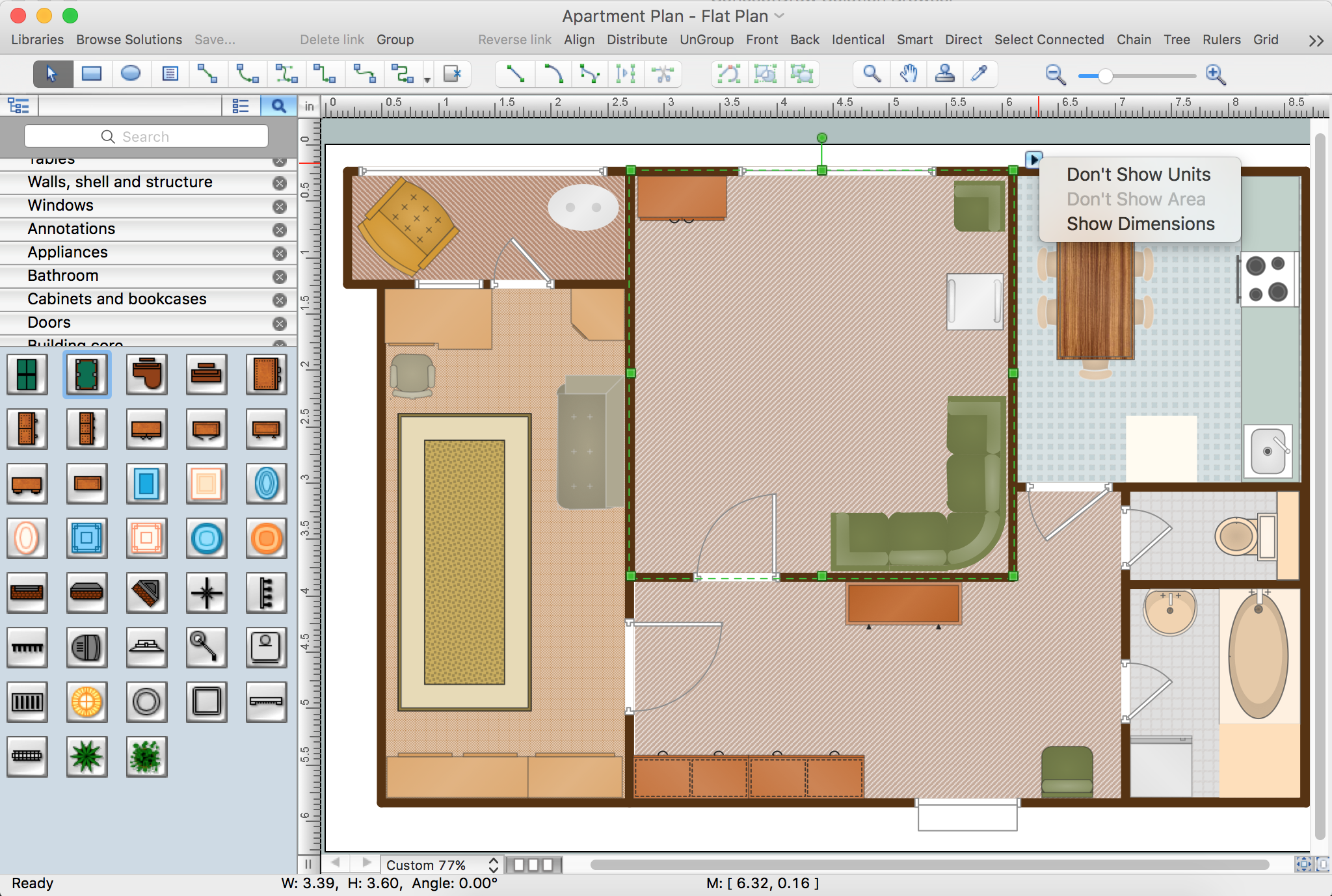 Floor Plan dimensions. Building Plan Software   Create Great Looking Building Plan  Home