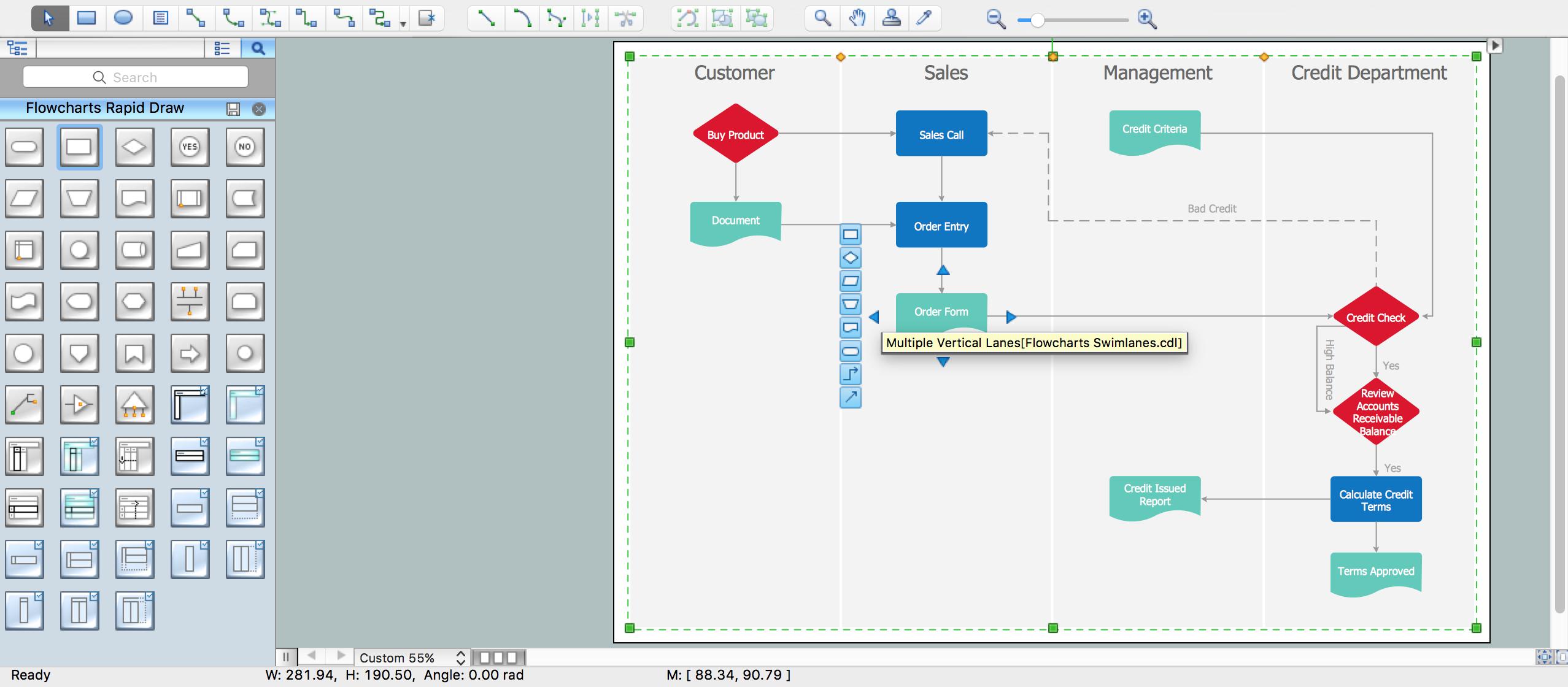 Business Process Elements  Swimlanes