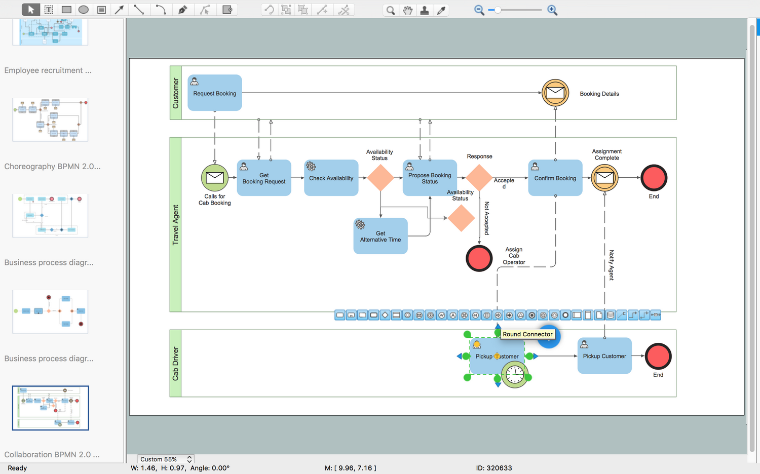 business process modeling diagram collaboration bpmn20 - Visio Like Program For Mac