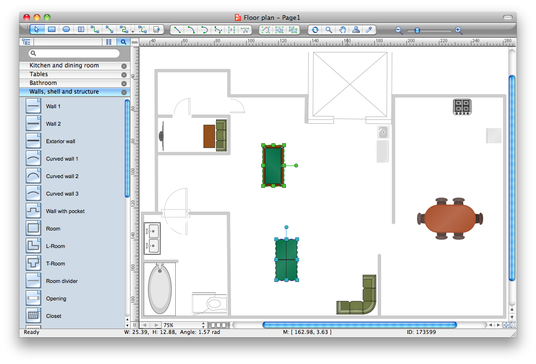 Interior design building drawing software for design for Layout drawing software free