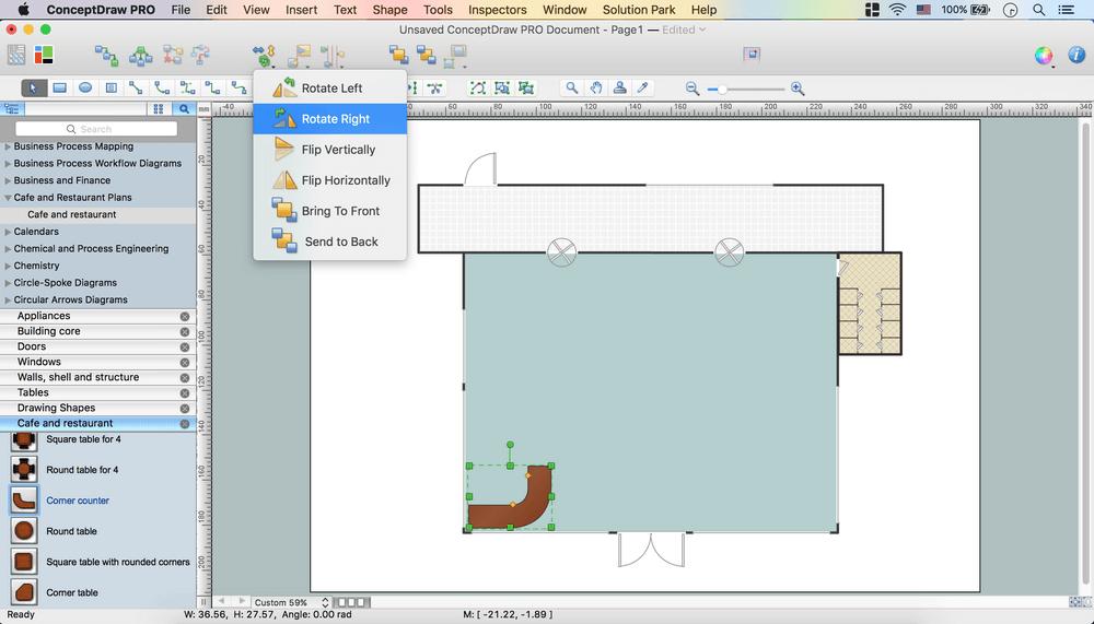 Floor mapping software gurus floor for Restaurant builder software