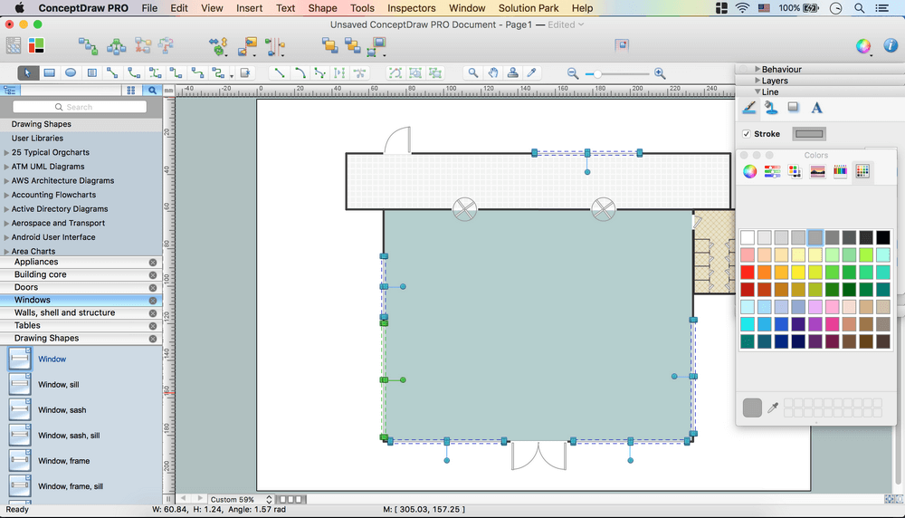 Café floor plan design software professional building
