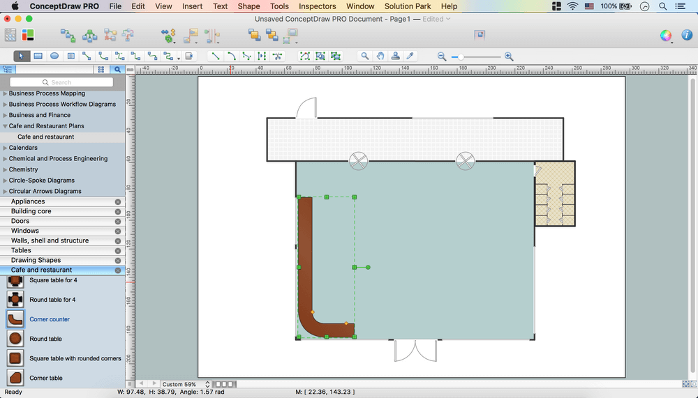 Caf floor plan design software professional building Building drawing software