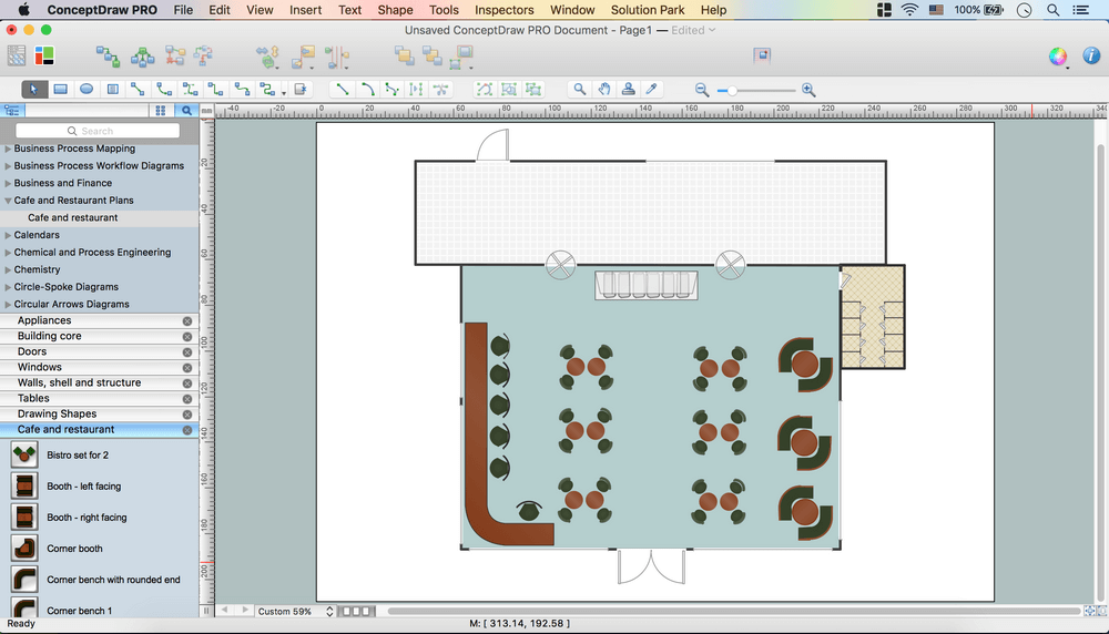 How to Create a Cafe and Restaurant Floor Plan