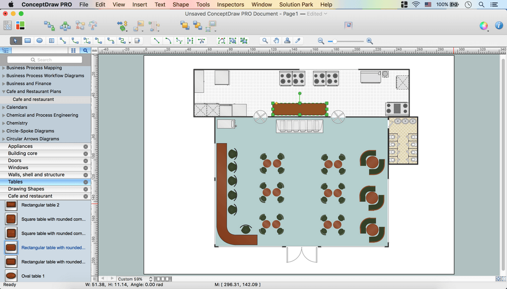 Café Floor Plan Design Software