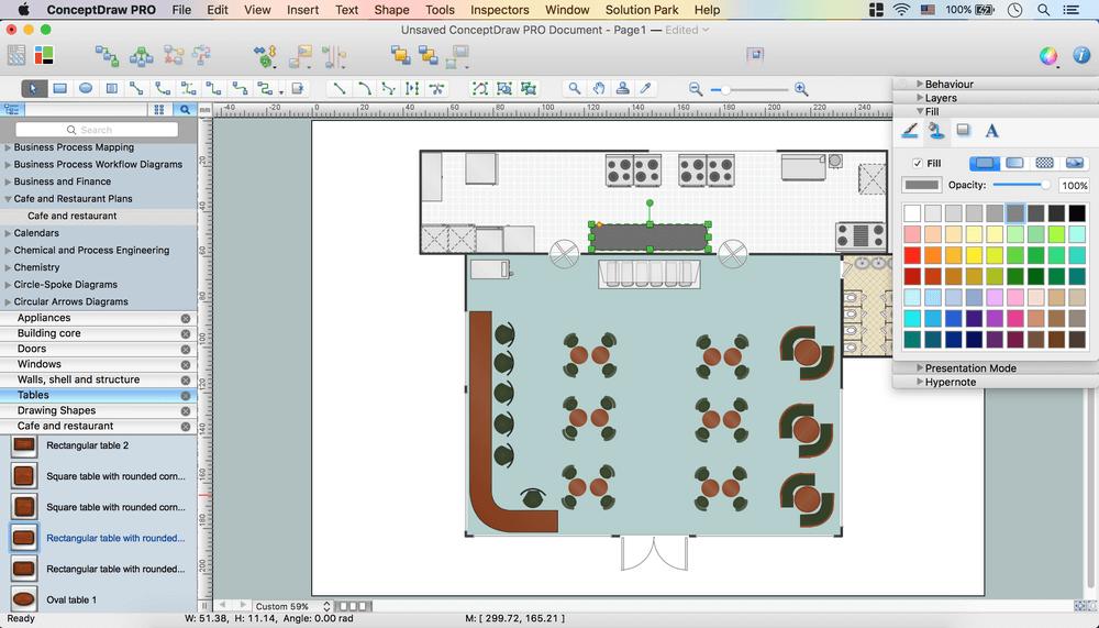 Café Floor Plan Design Software | Professional Building