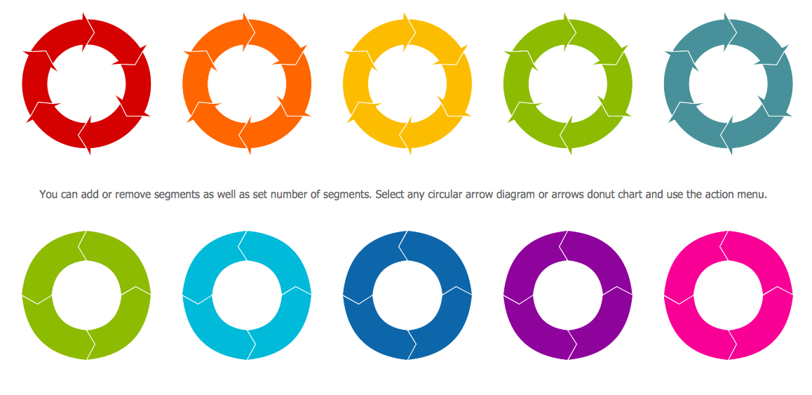 Circular Arrows Diagrams Library Design Elements