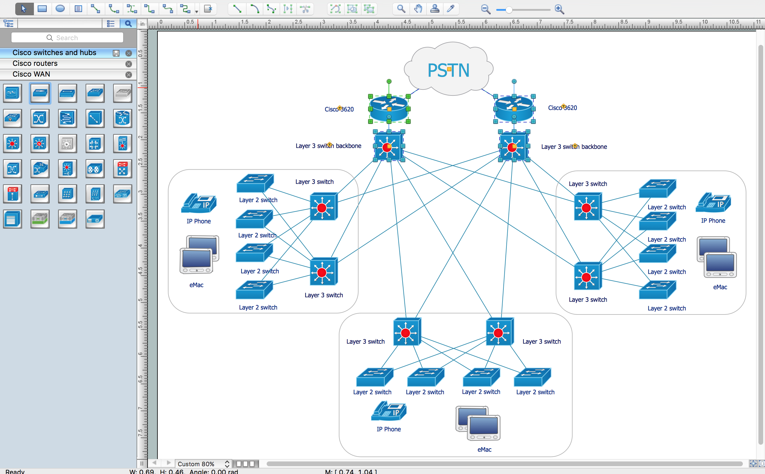 Draw Network Diagrams Online With Cisco Stencils Manual Guide