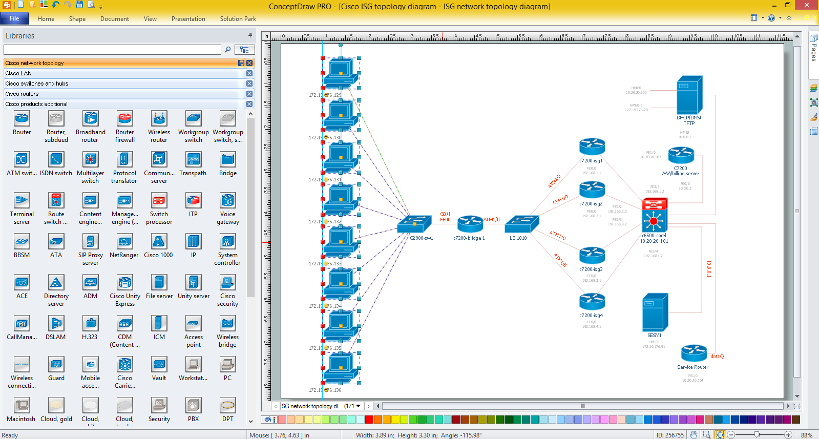 Cisco network diagrams for windows