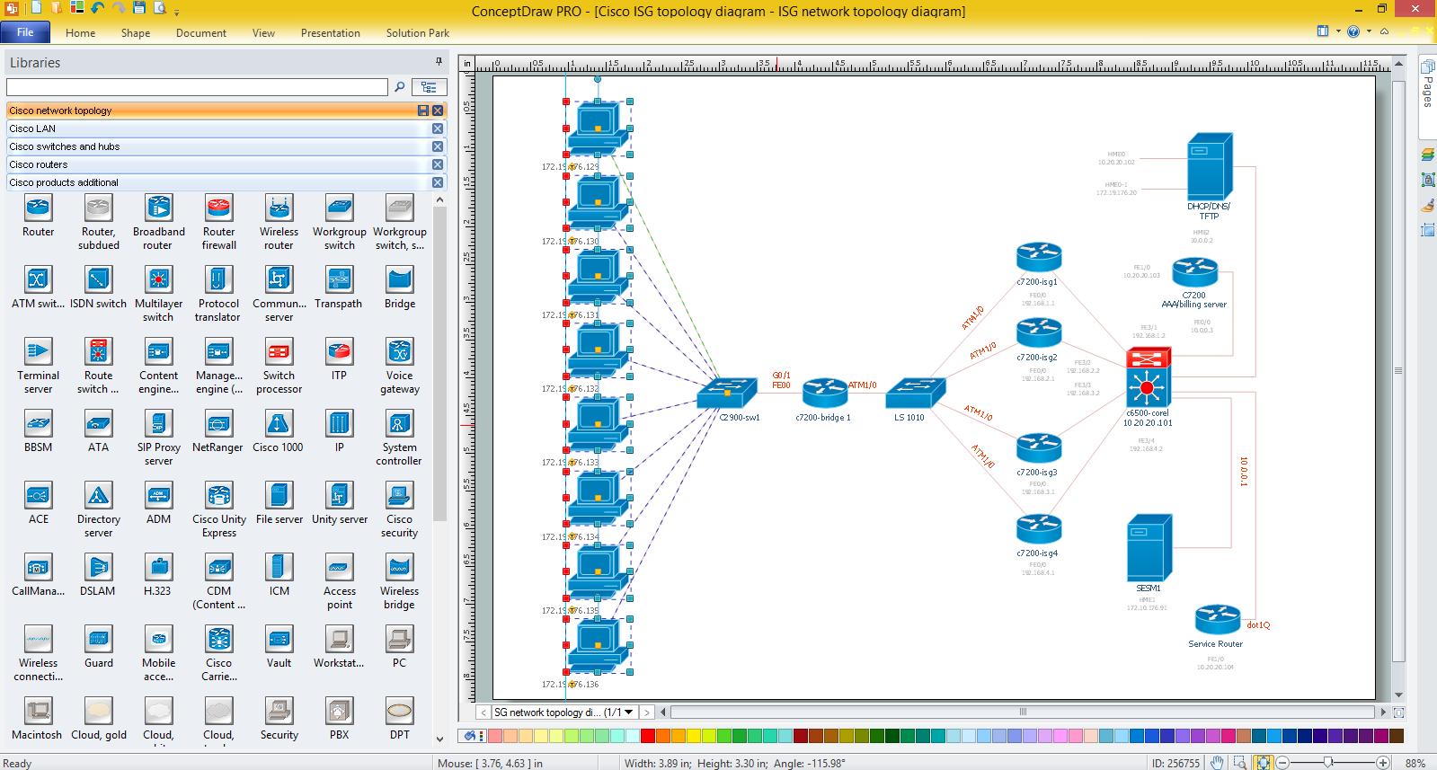 Cisco network diagrams for windows