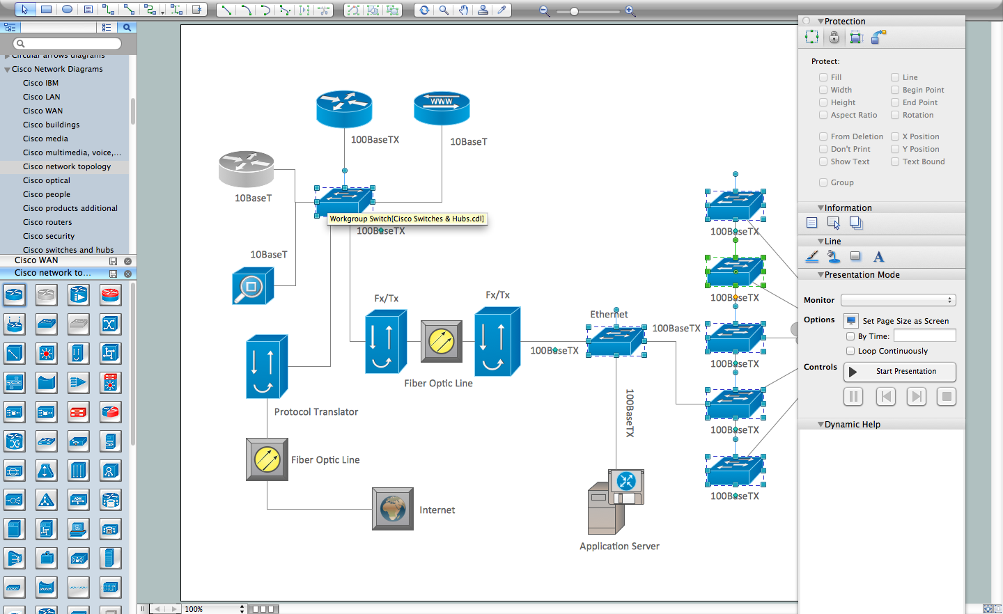 Network diagramming tools design element cisco for Online software design tool