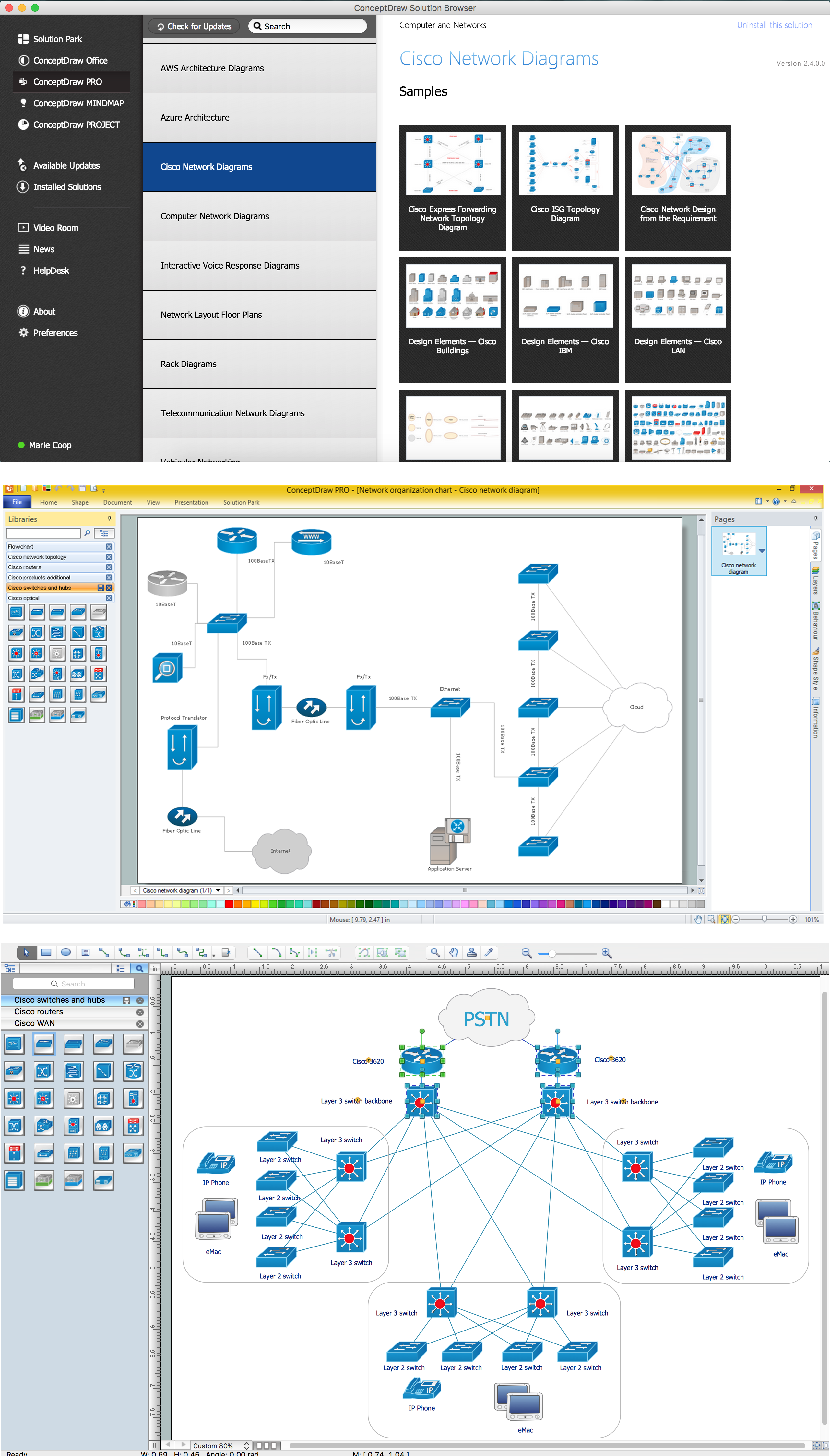 Cisco Switches And Hubs Icons Shapes Stencils Symbols Switch Design Review Help Lan Switching Routing Network Diagrams Solution