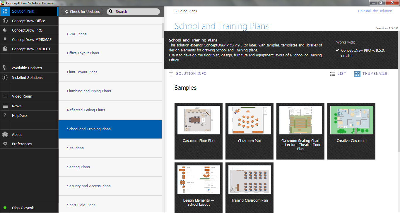 School and Training Plans Solution in ConceptDraw STORE