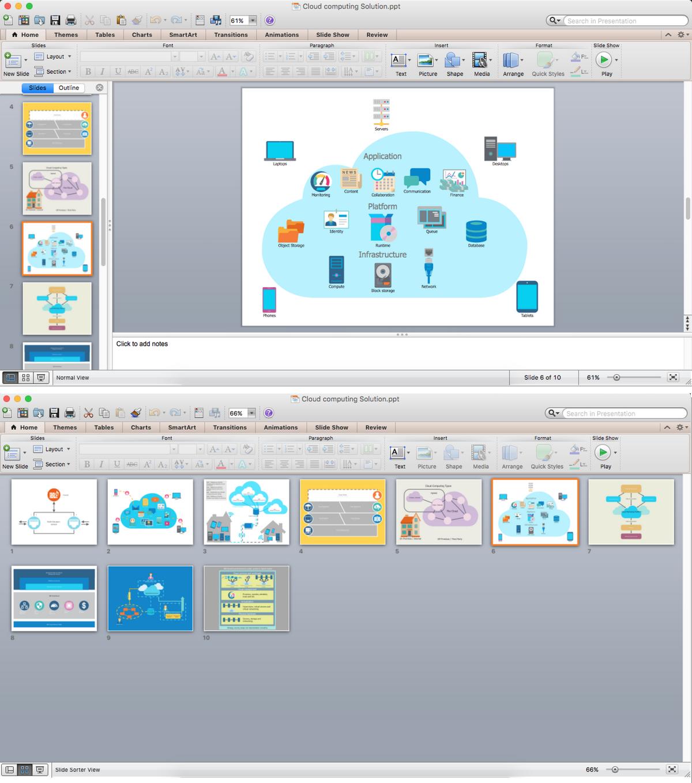 Cloud Computing Architecture Diagram PPT