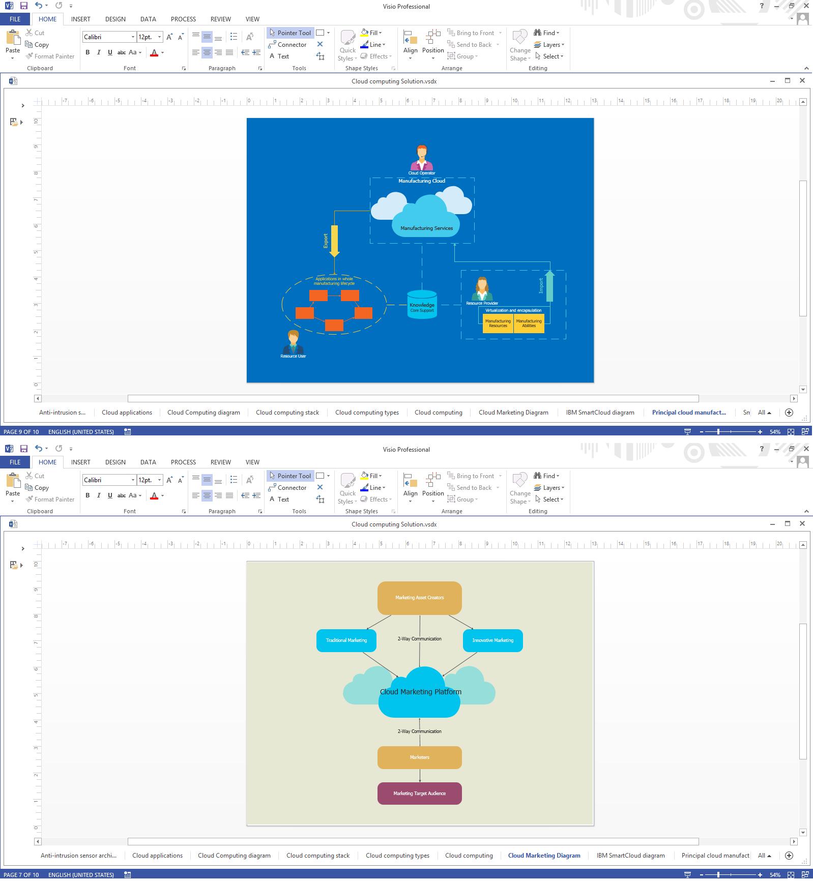 Cloud computing architecture diagrams cloud computing architecture visio biocorpaavc Images