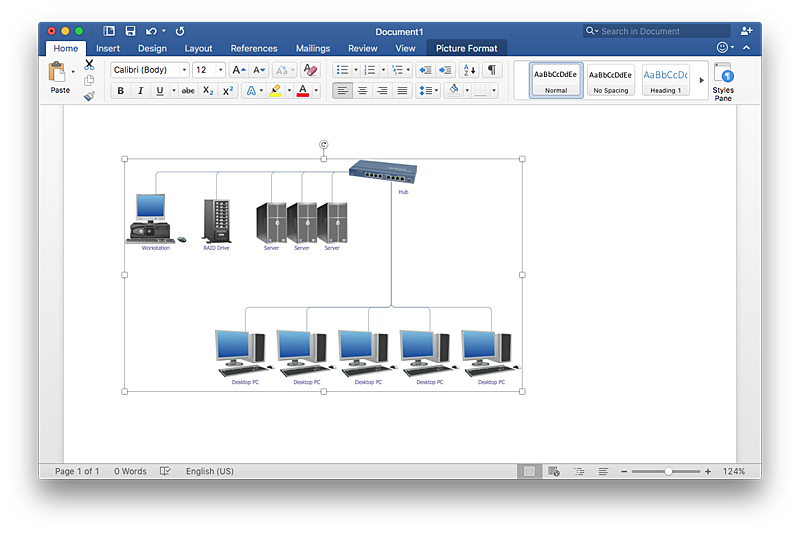 Cisco Network Templates | How to Add a Network Diagram to a MS Word