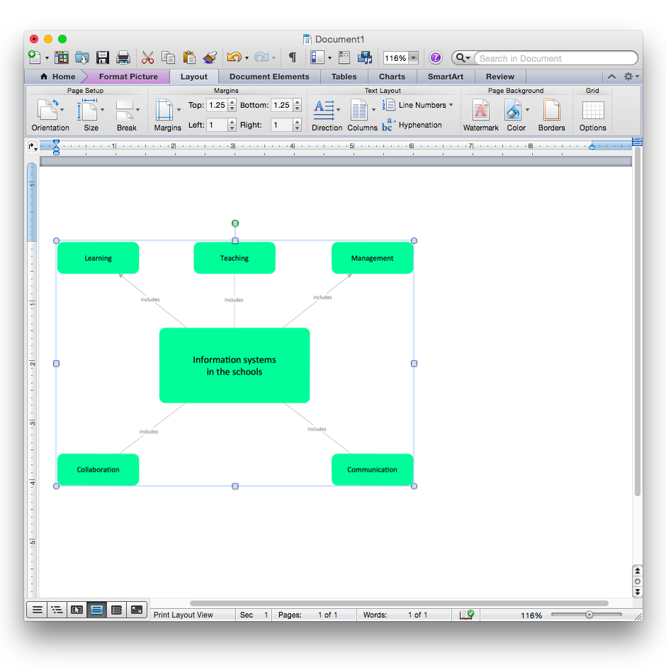 How to add a bubble diagram to a ms word document using conceptdraw concept mapping ms word ccuart Images