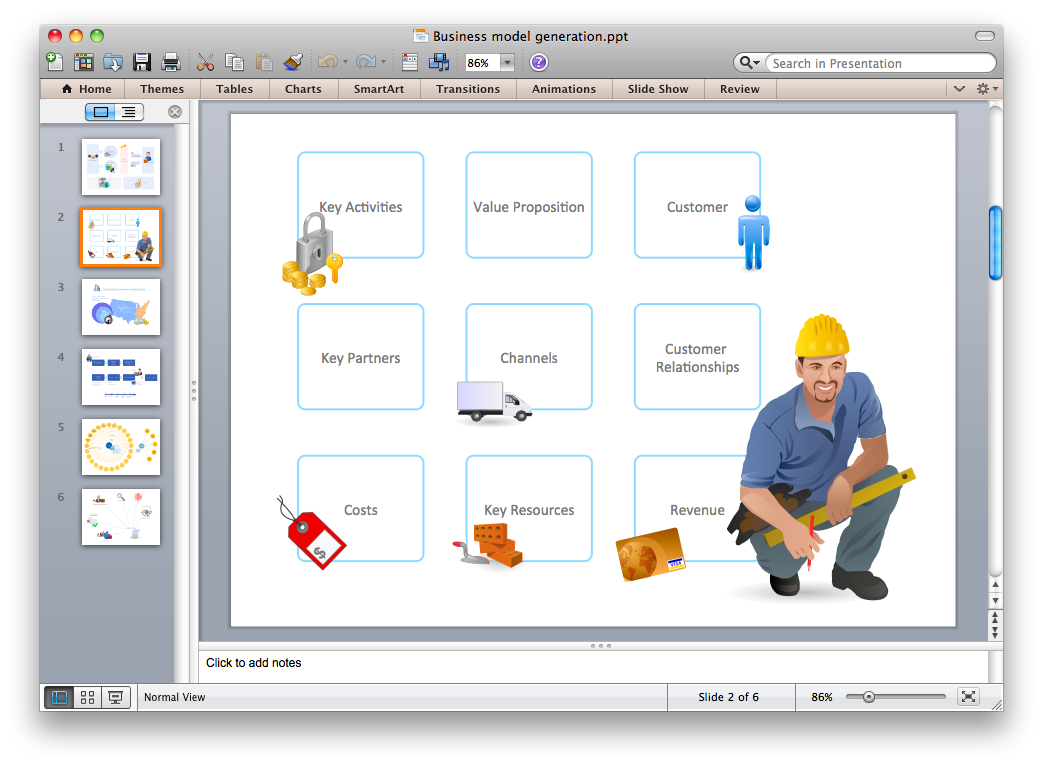 Export of ConceptDraw document to PowerPoint