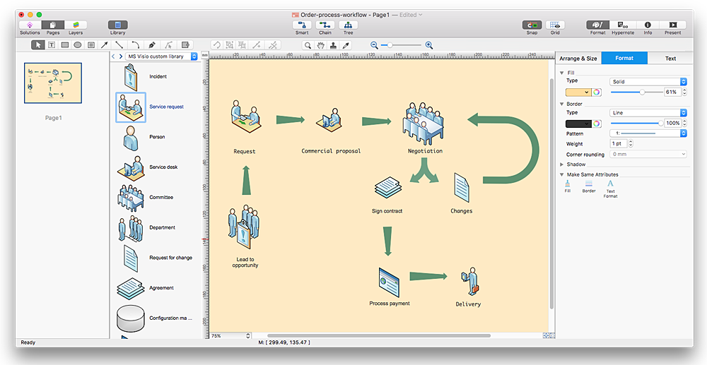 How to convert ms visio 2003-2010 custom library to conceptdraw.