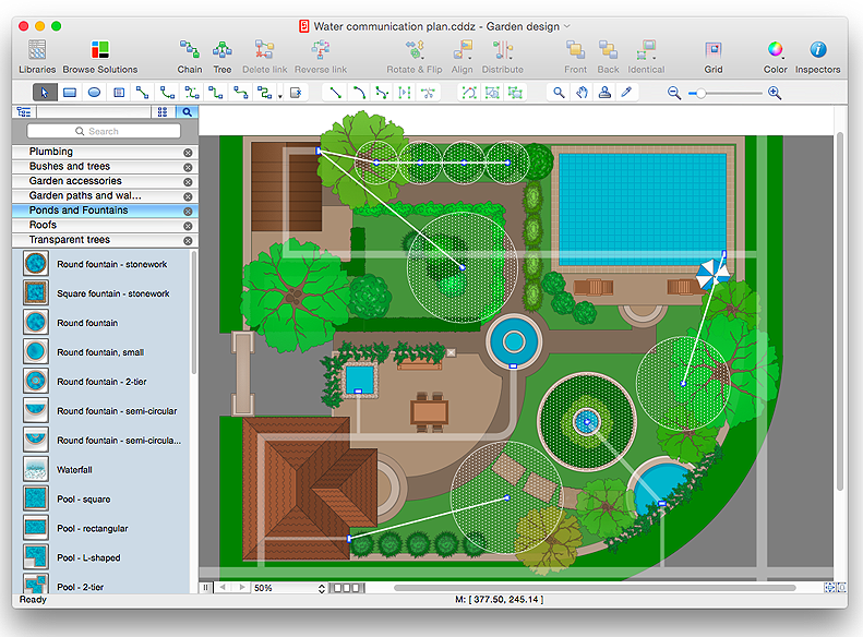 how to design a garden using conceptdraw pro - Garden Design Cad