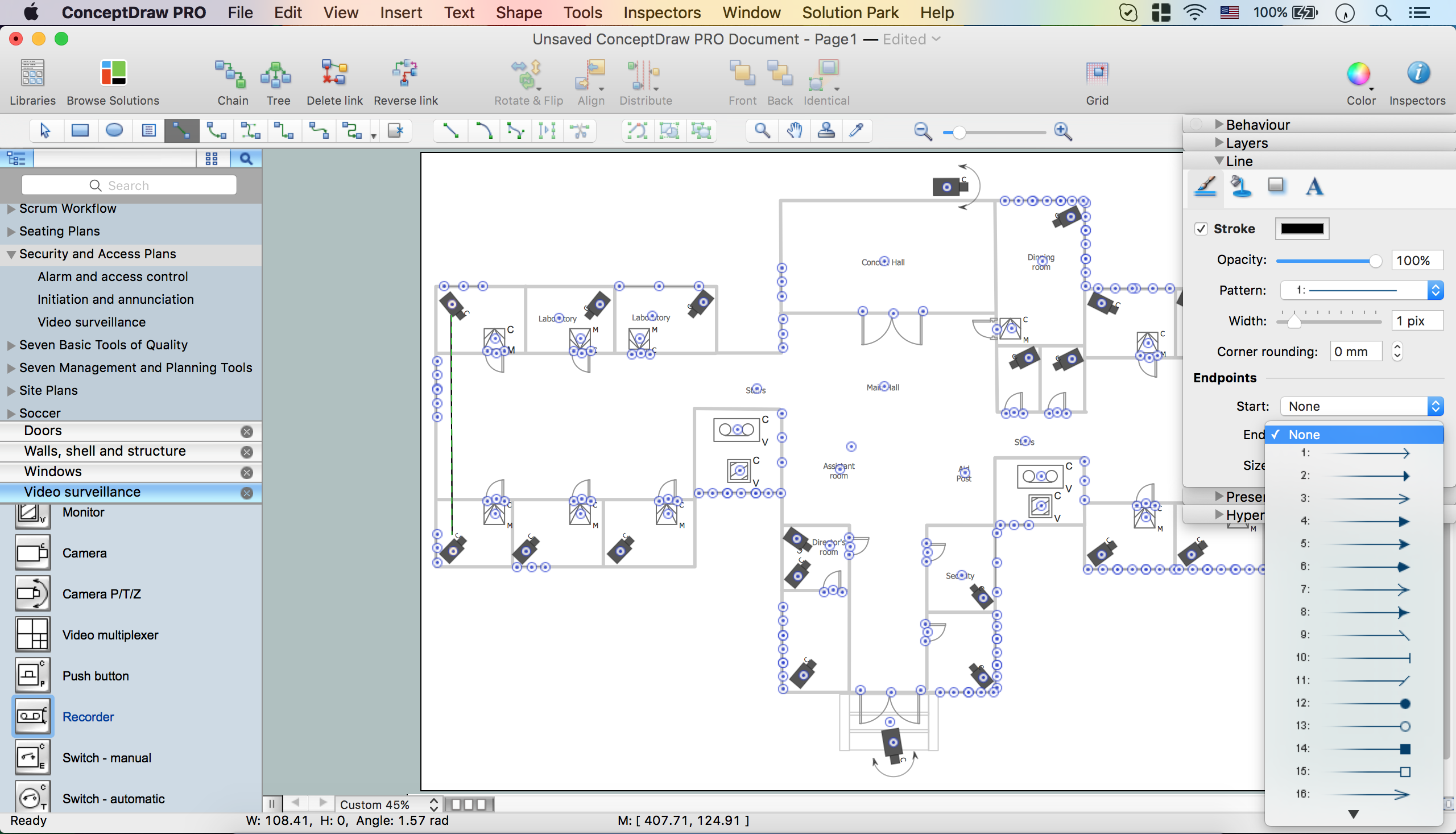 Basic cctv system diagram cctv network diagram example for Cctv layout software