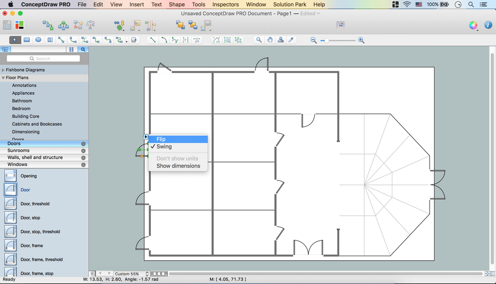 Floor plan software for Creation plan