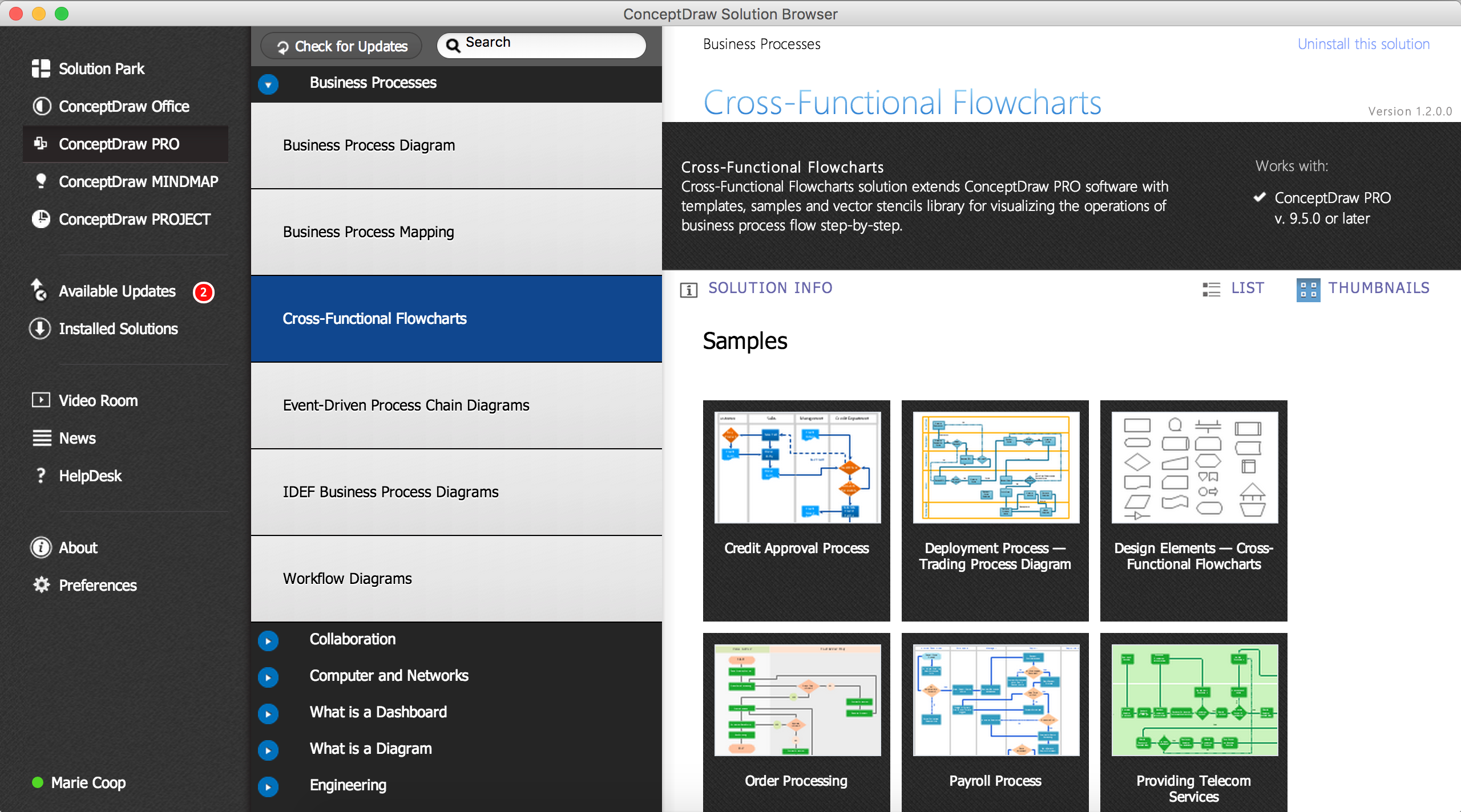 Cross Functional Flowchart Solution with ConceptDraw Solution Browser