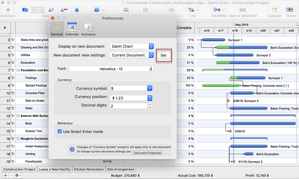 How toCustomize theDefault ProjectFile on Mac